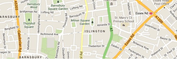 Islington Locksmith - Map