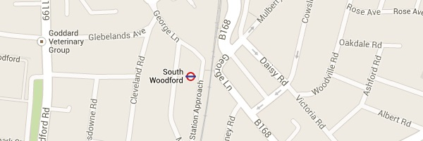 Map of South Woodford, E18