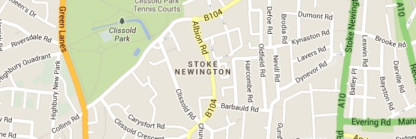 Locksmith Stoke Newington - Map