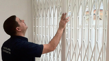 Alexandra locksmith installing security grilles