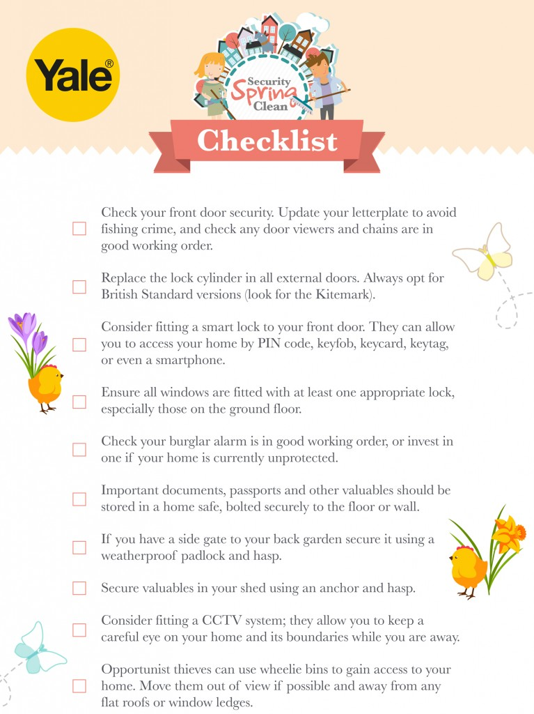 Yale Spring Security Checklist