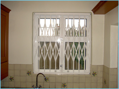 Window Security Grilles Closed