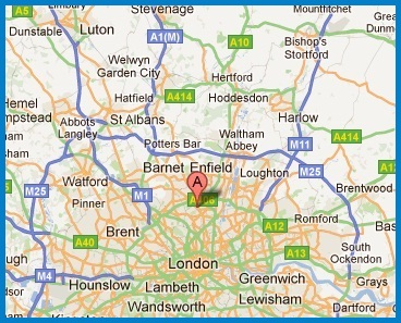 Map of where Alexandra Locksmith installs window grilles in London