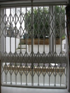 Collapsible window grille - closed