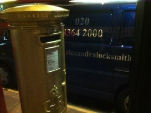 Alexandra Locksmiths Olympic Gold Post Box