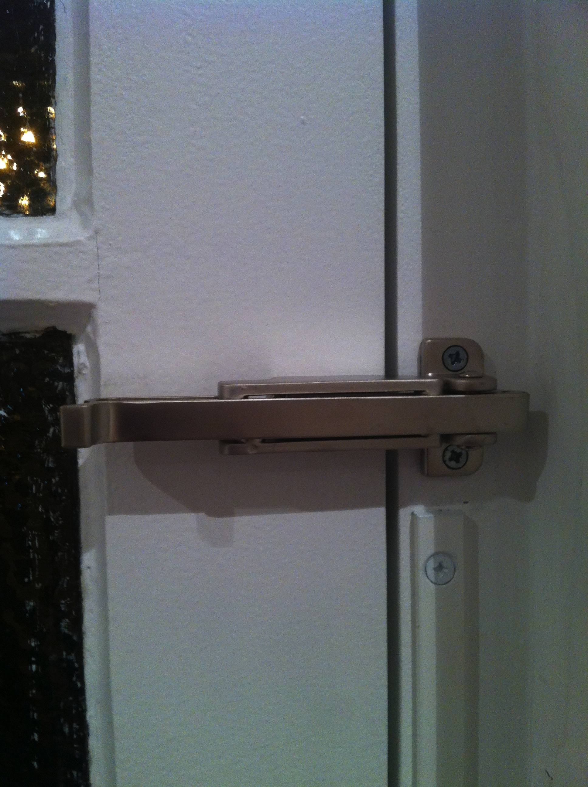 Ingersoll door check in satin chrome