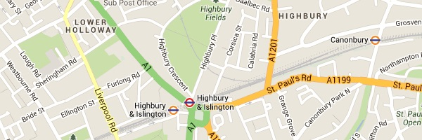 Locksmith Highbury - Map