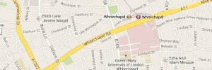 Map of Whitechapel, London E1