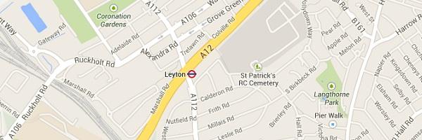 Map of Leyton London E10