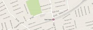 Map of East London E12