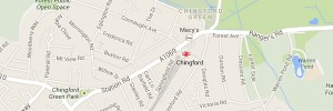 Map of Chingford, London E4