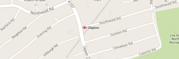 Map of Clapton London E5