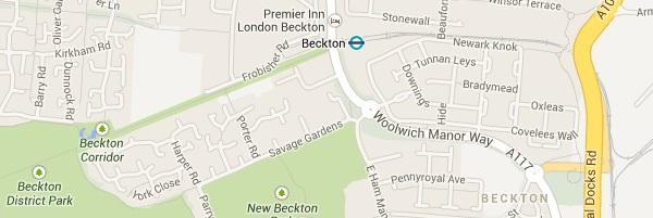 Map of Beckton London E6