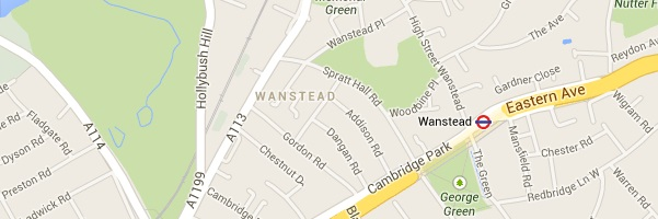 Map of Wanstead London E7