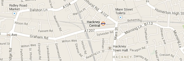Map of Hackney London E8