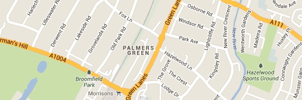 Locksmith Palmers Green - Map