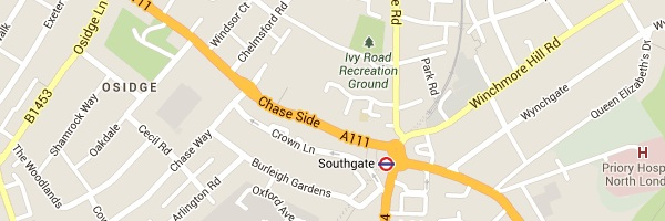 Locksmith Southgate - Map