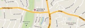 Locksmith Totteridge - Map
