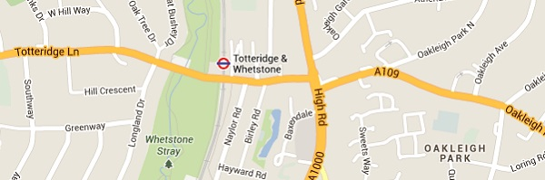 Locksmith Totteridge - Map