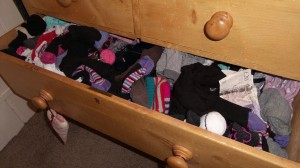 Popular hiding place the sock drawer