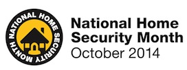 October is National Home Security Month