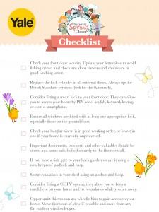 Yale Spring Security Checklist